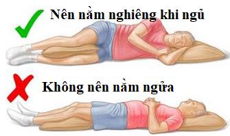 Tư thế nằm dành cho người ngủ ngáy